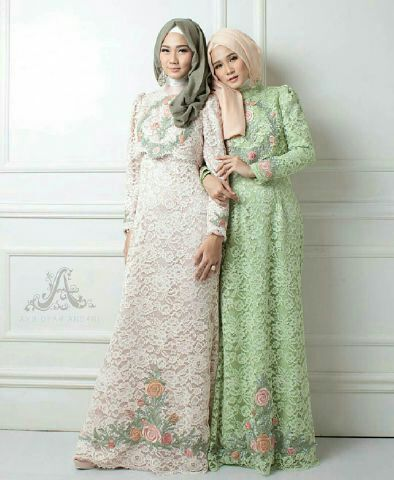 Pin by Indah Lestari Bordir on Gamis | Fashion, Brokat ...