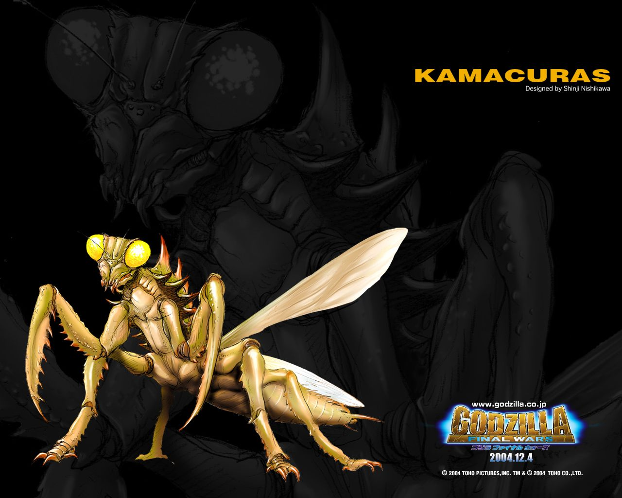 kamacuras from godzilla final wars 2004 godzilla and