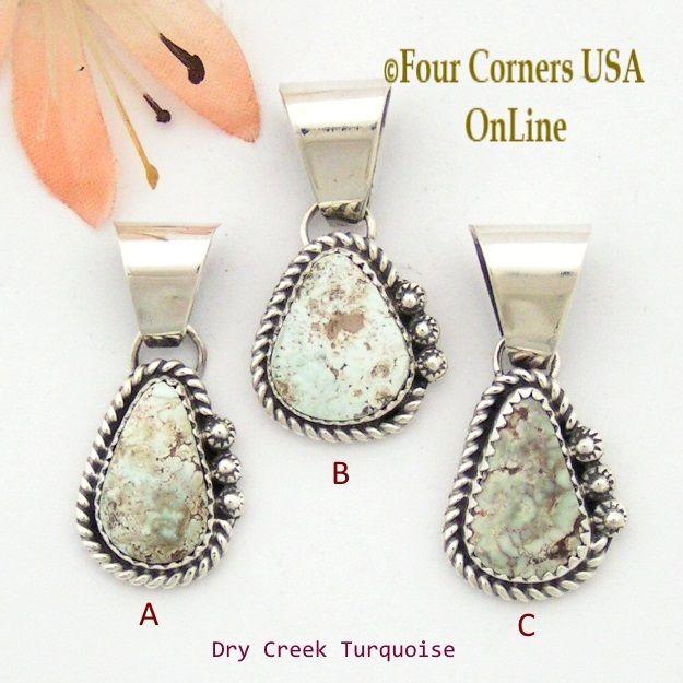 Four Corners USA Online - Petite Dry Creek Turquoise Sterling Pendant Navajo Artisan Alice Johnson NAP-1568, $45.00 (http://stores.fourcornersusaonline.com/petite-dry-creek-turquoise-sterling-pendant-navajo-artisan-alice-johnson-nap-1568/)