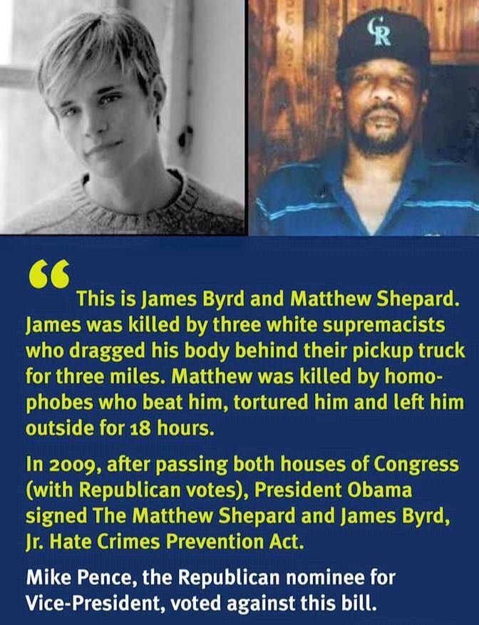 hate crimes the case of james byrd This afternoon, the house passed the matthew shepard and james byrd, jr hate crimes prevention act as part of the conference report on defense authorization for fy 2010 (hr 2647)-legislation that closes gaps in federal law to also help combat hate crimes committed because of a person's gender, sexual orientation, gender identity, or disability.