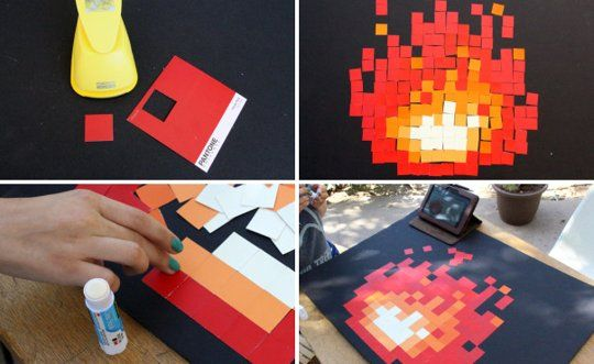 Geek Chic Diy Pixelated Zelda Fireplace Our Nerd Home Geek Chic Craft And Geek Crafts