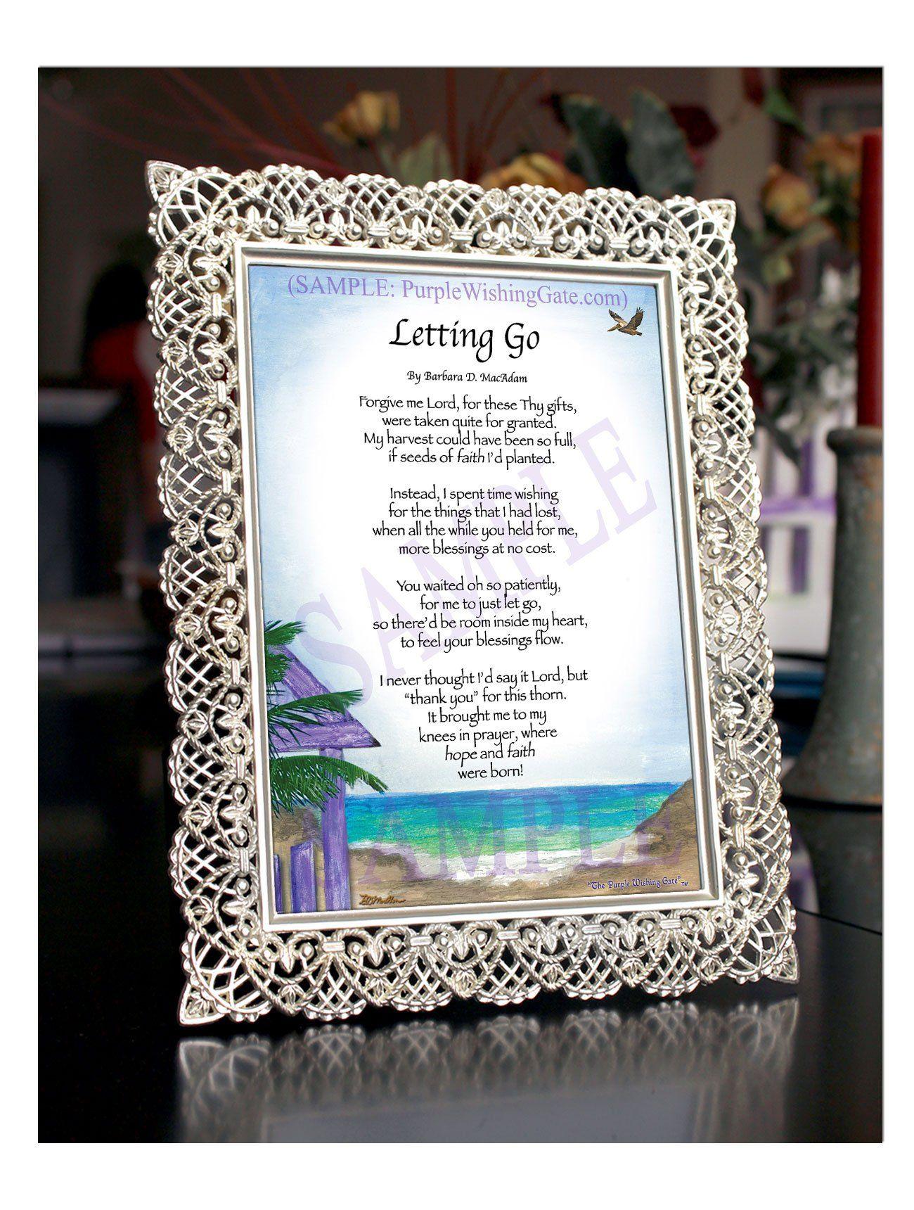 Letting go prayer gifts inspirational prayers blessing