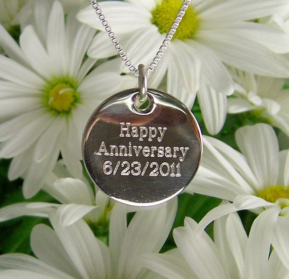 7/8 Sterling Silver Engraved Personalized by tiposcreations, $59.95-- I want this with my new initials :-)