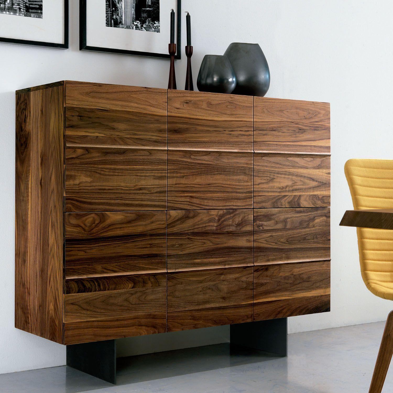 Mueble de almacenaje horizon en madera maciza con - Mueble de almacenaje ...
