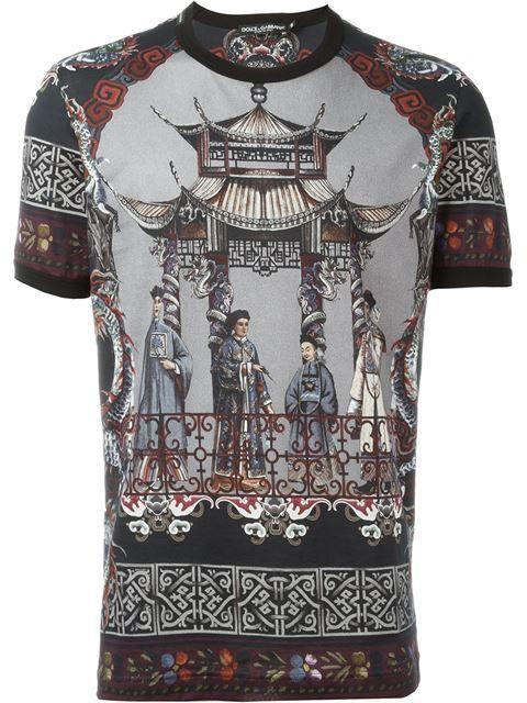 aec2083cf7a8 DOLCE   GABBANA Chinese Print T-Shirt.  dolcegabbana  cloth  t-shirt ...
