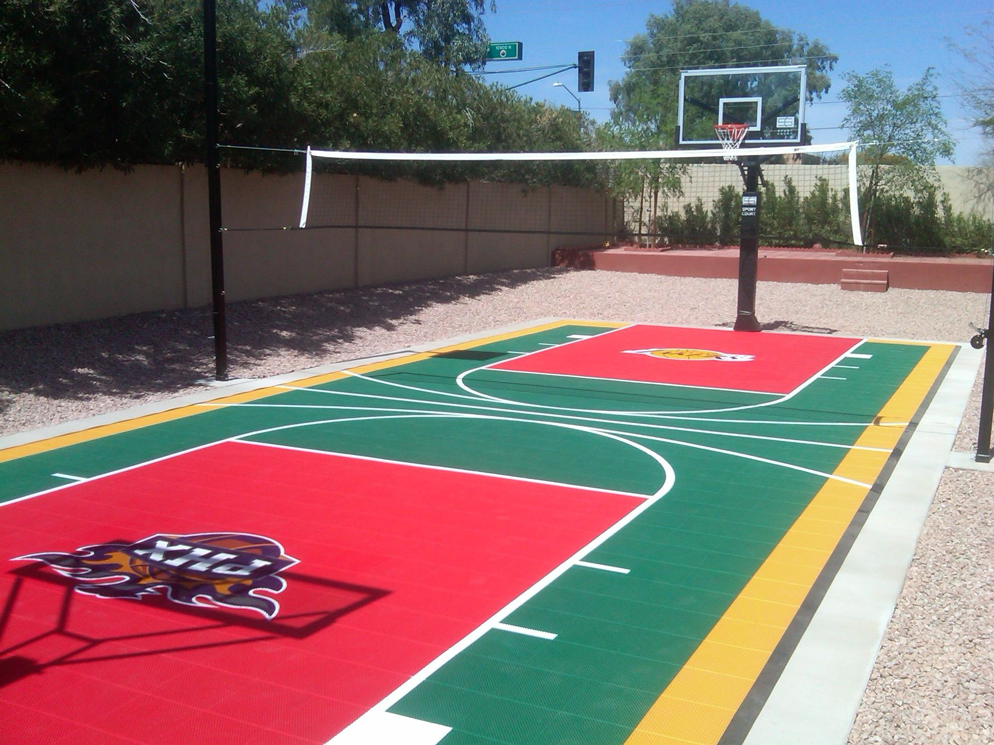 Backyard Sports Court Backyard Designs Arizona Sport Court Basketball Court Backyard Backyard Basketball Backyard Court