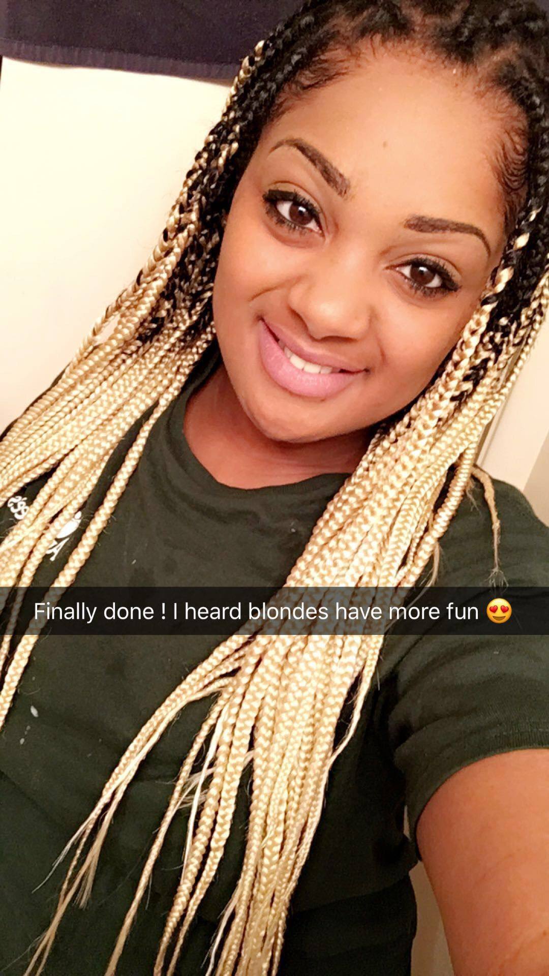 Ombre Black And Blonde Box Braids Xpression Hair Only Box Braid