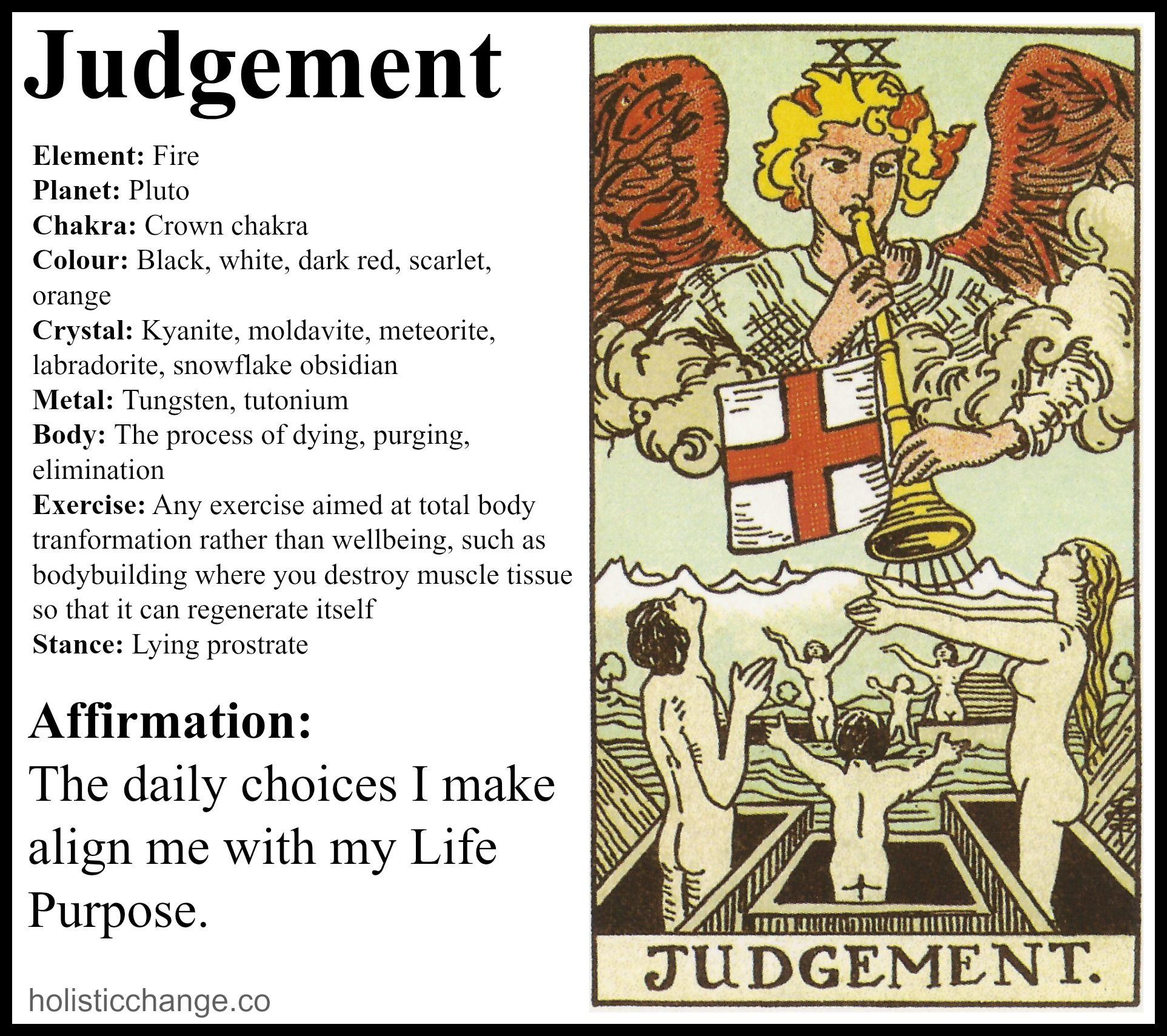 Holistic Correspondences For The Judgement Tarot Card