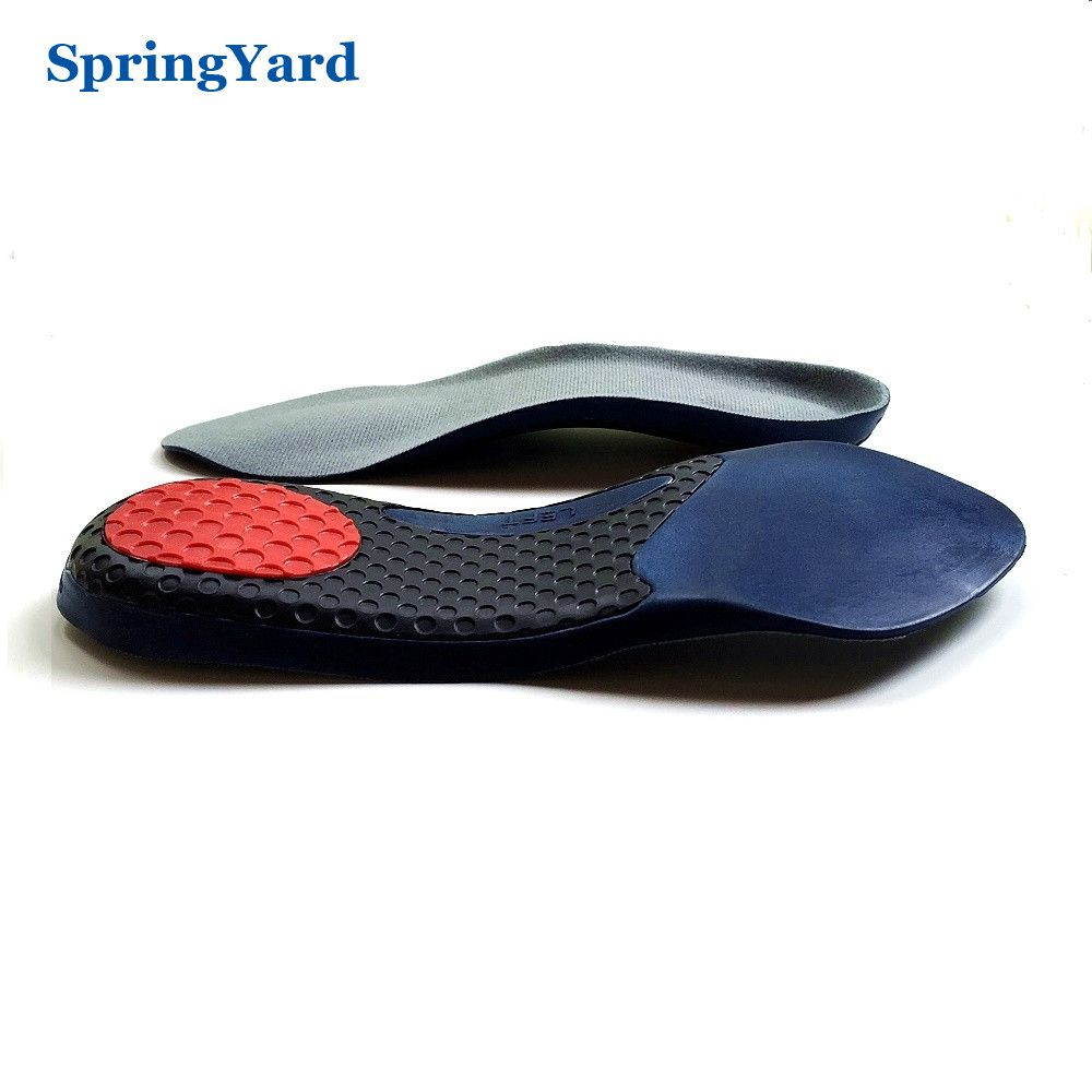 d7018794fd SpringYard TPR+PU Form 3/4 Length Arch Support Shock Absorption Cushion  Soft Comfortable Orthopedic Insoles for Shoes Woman Men