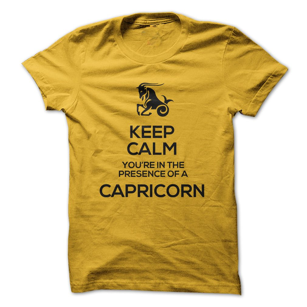 Flannel shirts yellow  KEEP CALM YOURE IN THE PRESENCE OF A CAPRICORN  Tshirt Sunfrog