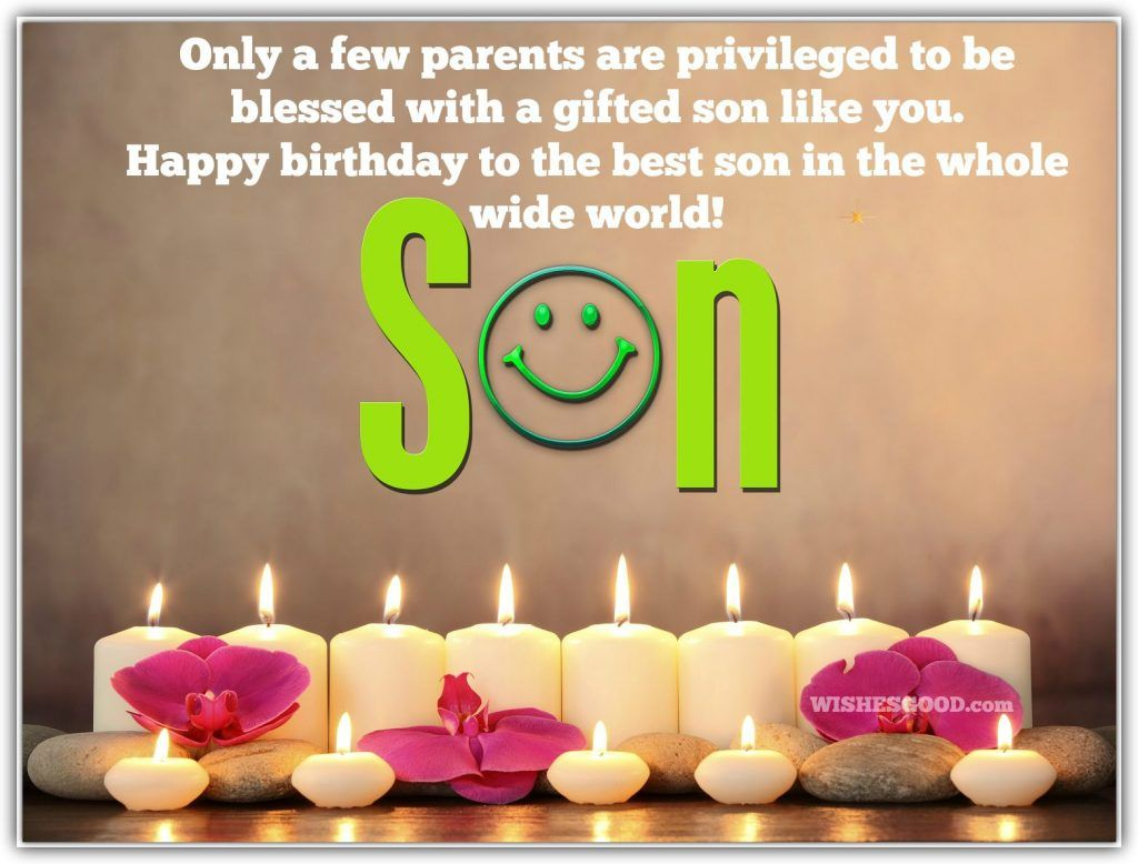 Happy Birthday Son Wishes Birthday Wishes Pinterest