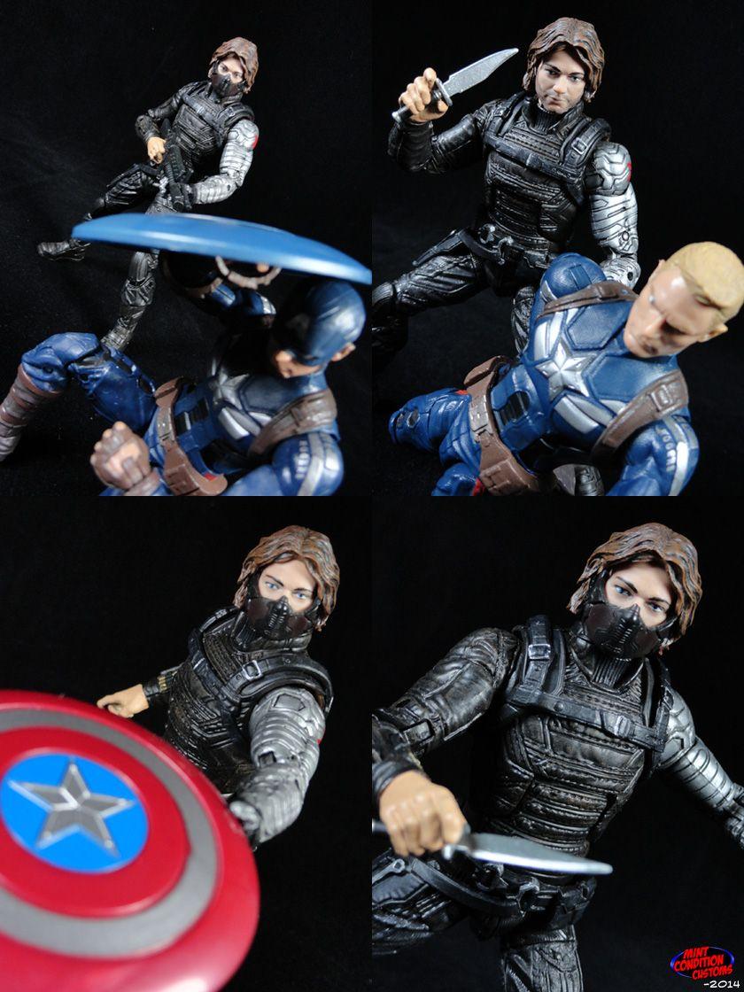 Custom winter soldier movie style marvel legends action