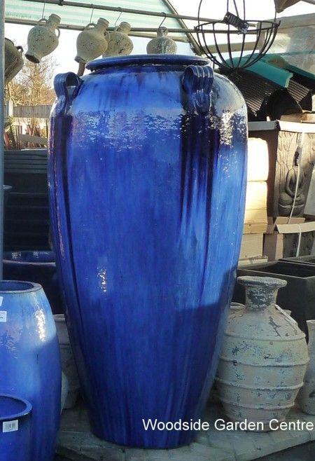 Extra Large Glazed Tall Blue Temple Jar Vase Woodside Garden Centre Pots To Inspire Large Flower Pots Outdoor Vases Container Garden Design
