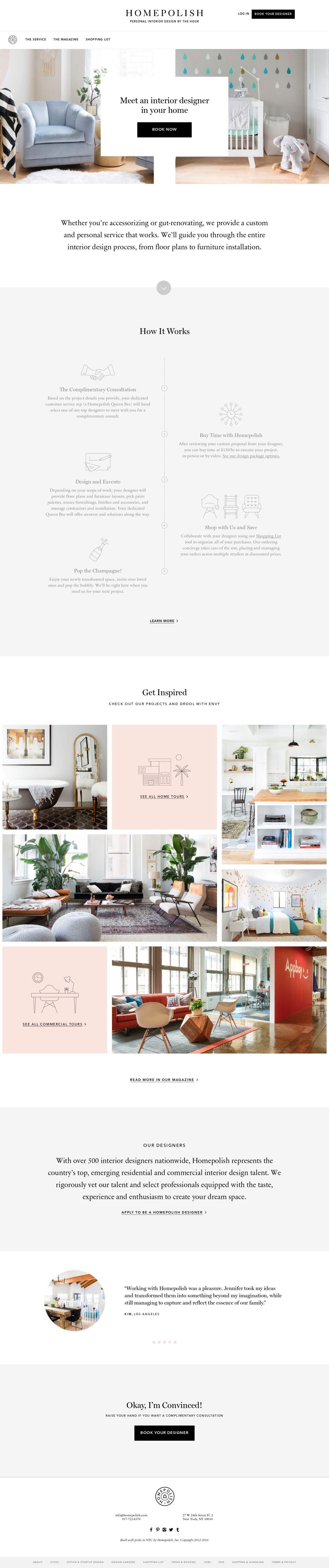 Homepolish Online And In Home Interior Design By The Hour Interior Design Website Portfolio Website Design Design