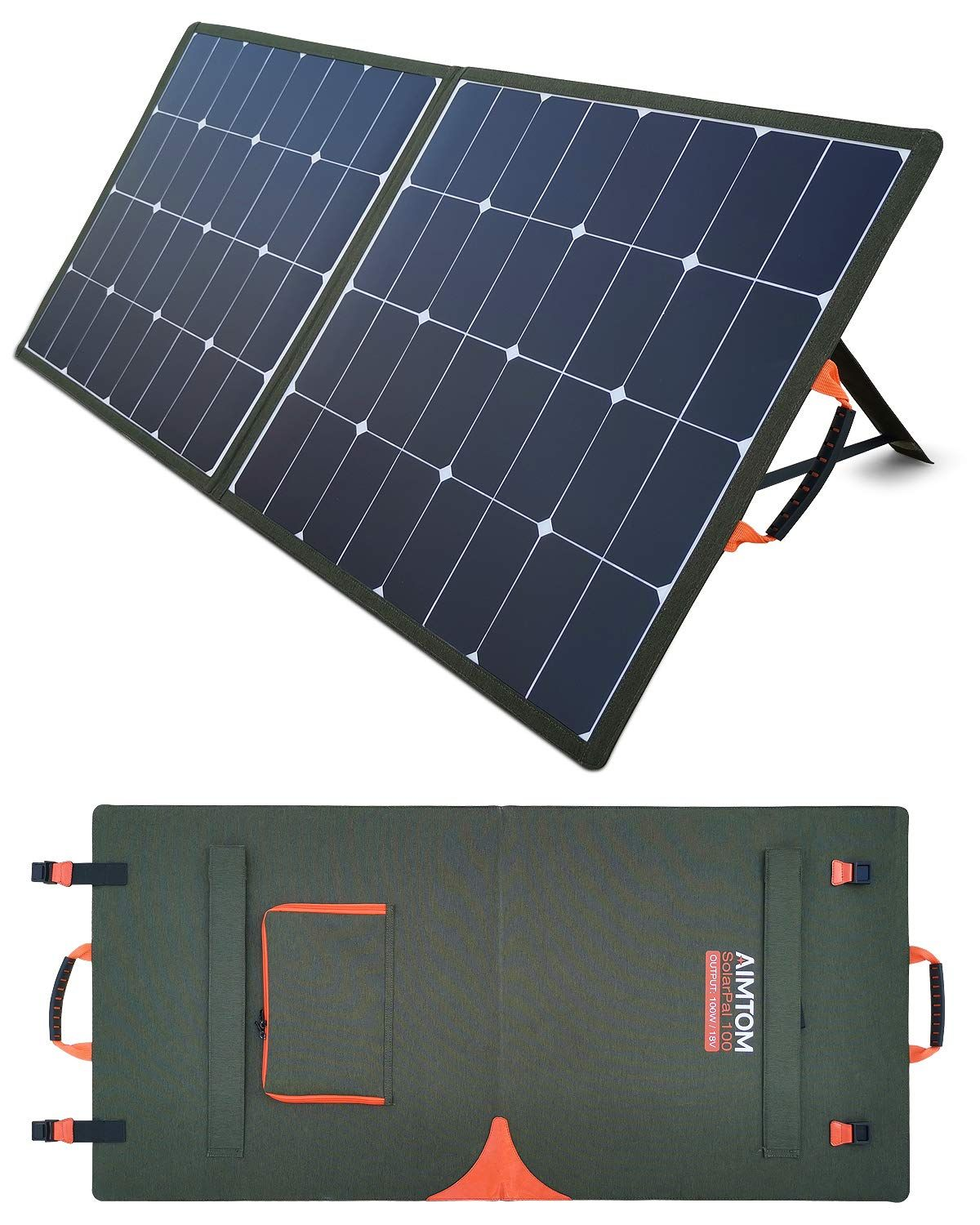 Aimtom Solarpal 100w Portable Solar Panel For Power Station Solar Generator Phone And Laptop Fold Trong 2020