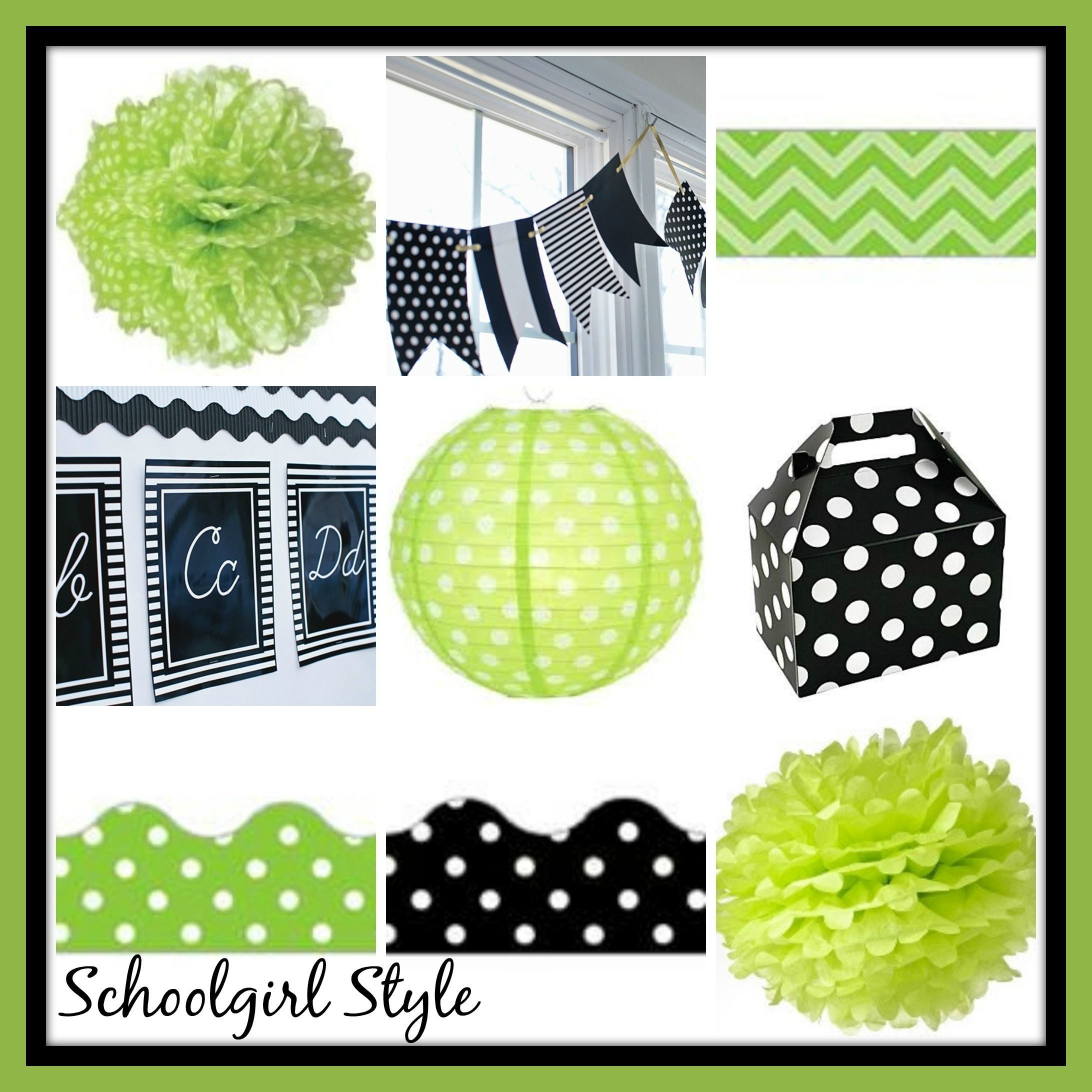 Lime Green Black Clroom Theme Decor By School Style Www Schoolstyle