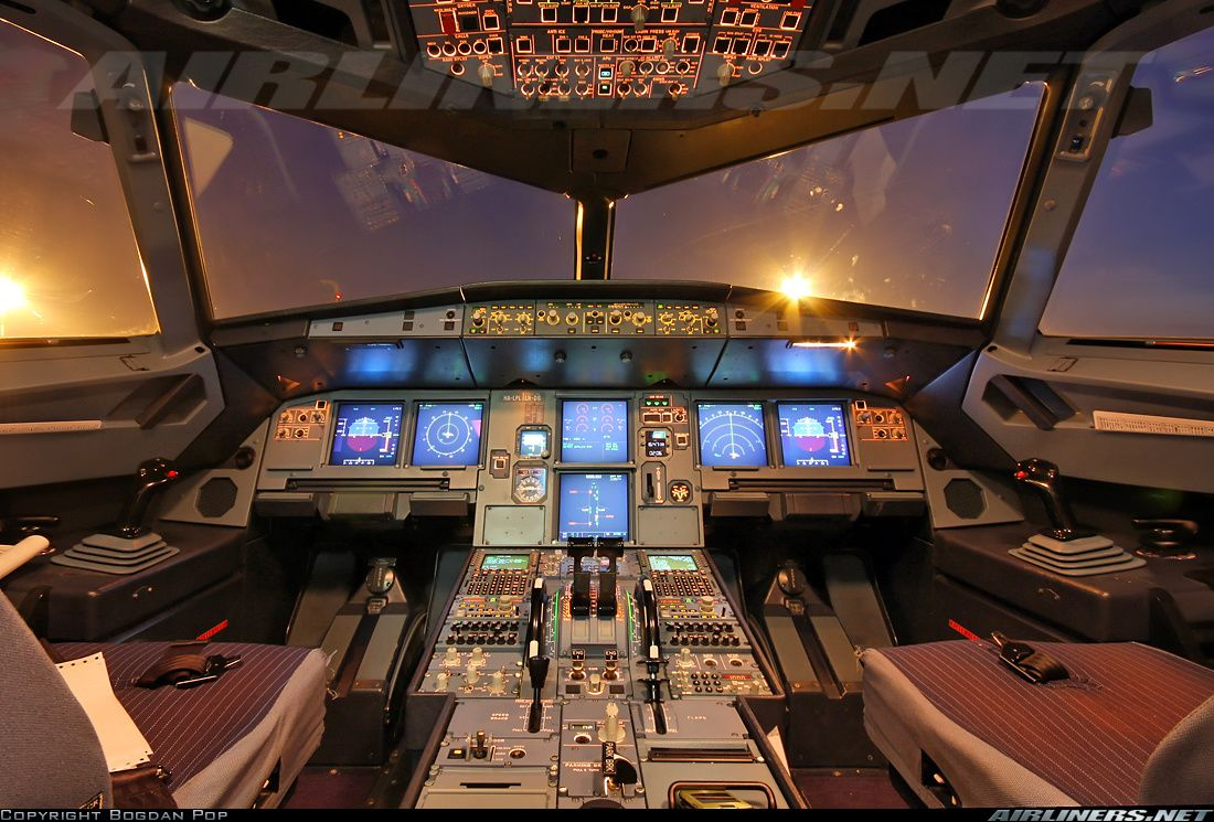 The airbus a320 cockpit voertuigen en beroepen for Airplane cockpit wall mural