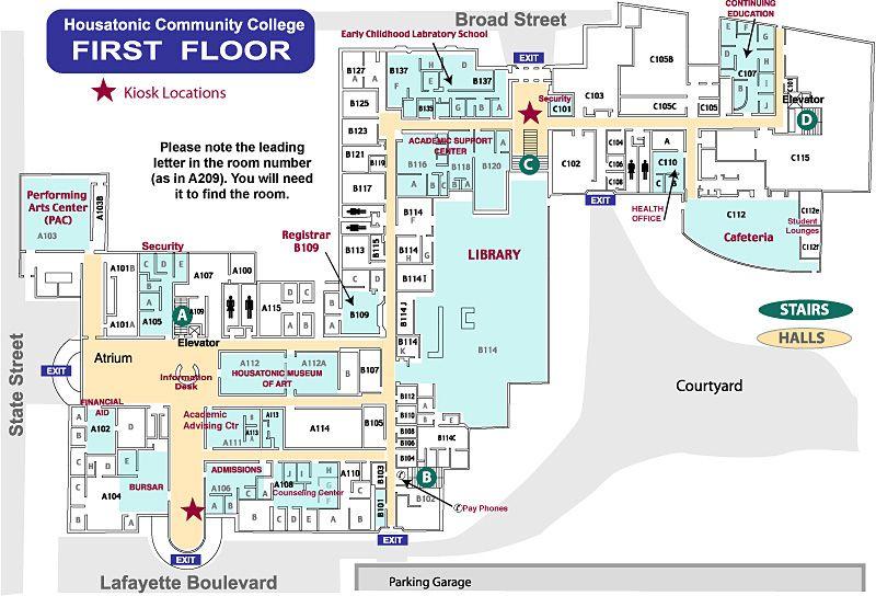 Lafayette Hall (LH) first floor at Housatonic Community ...