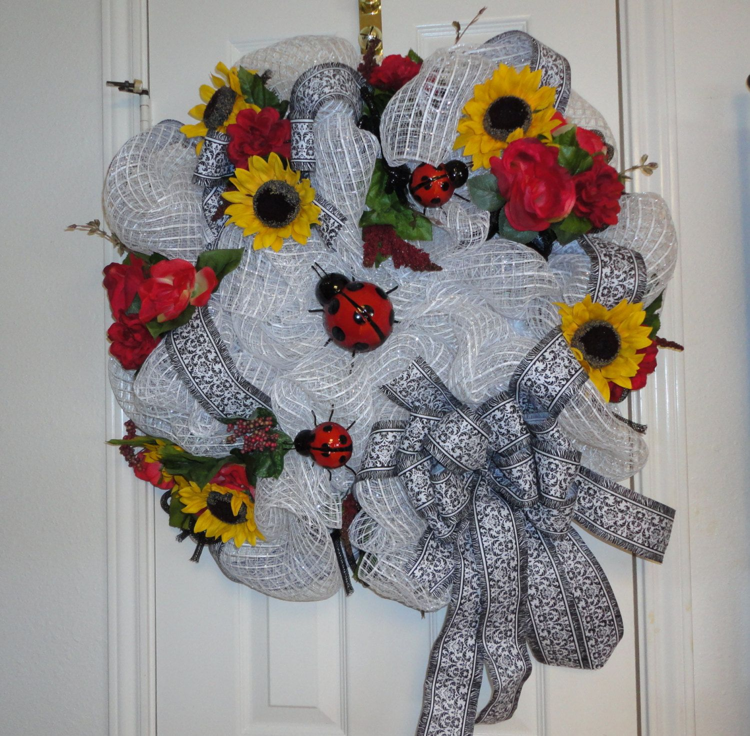 Lady Bug Deco Mesh Wreath. | Wreaths | Pinterest | Deco mesh, Lady ...