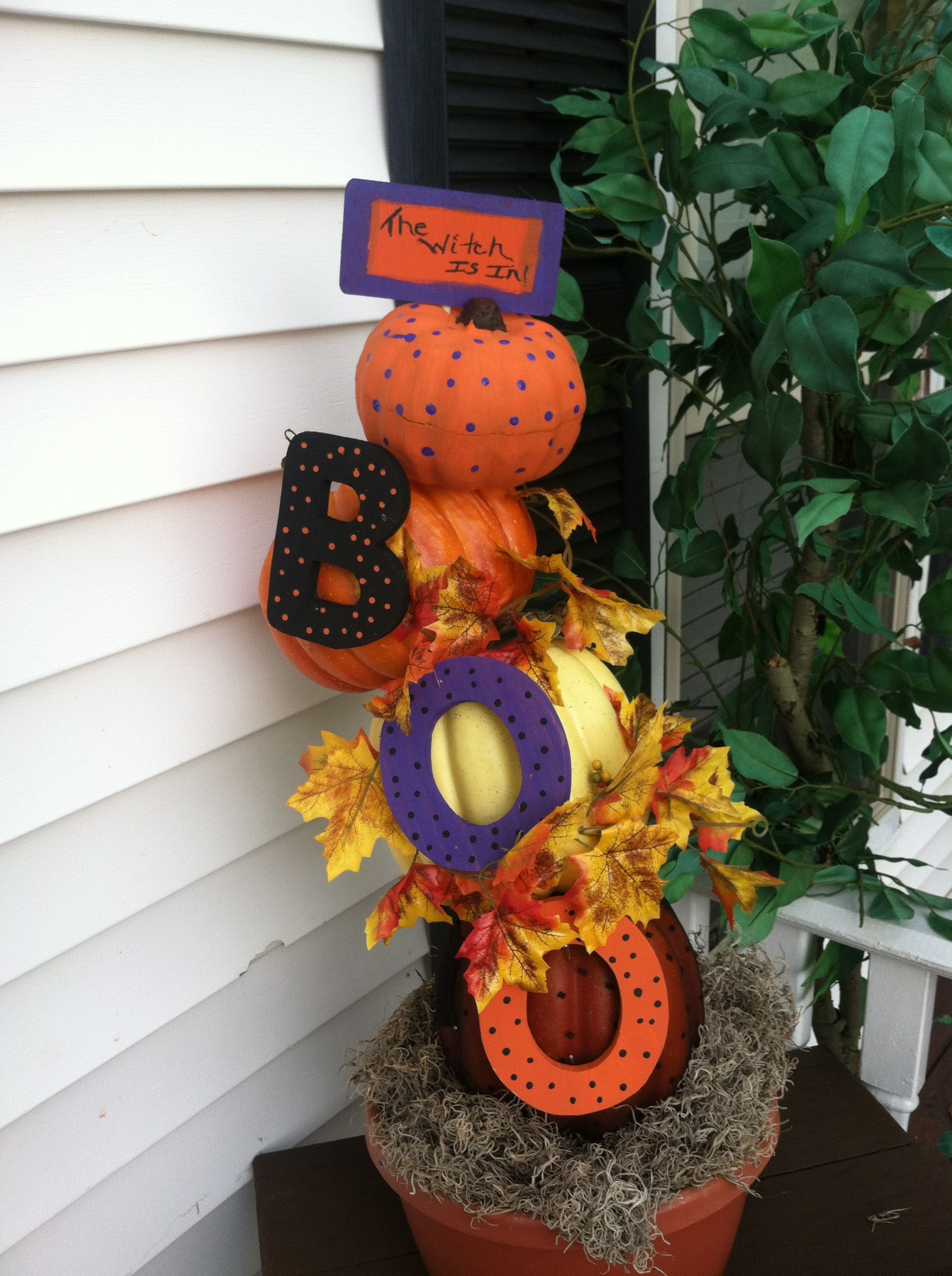 Halloween decoration I made for my porch. Turned out pretty cute I think