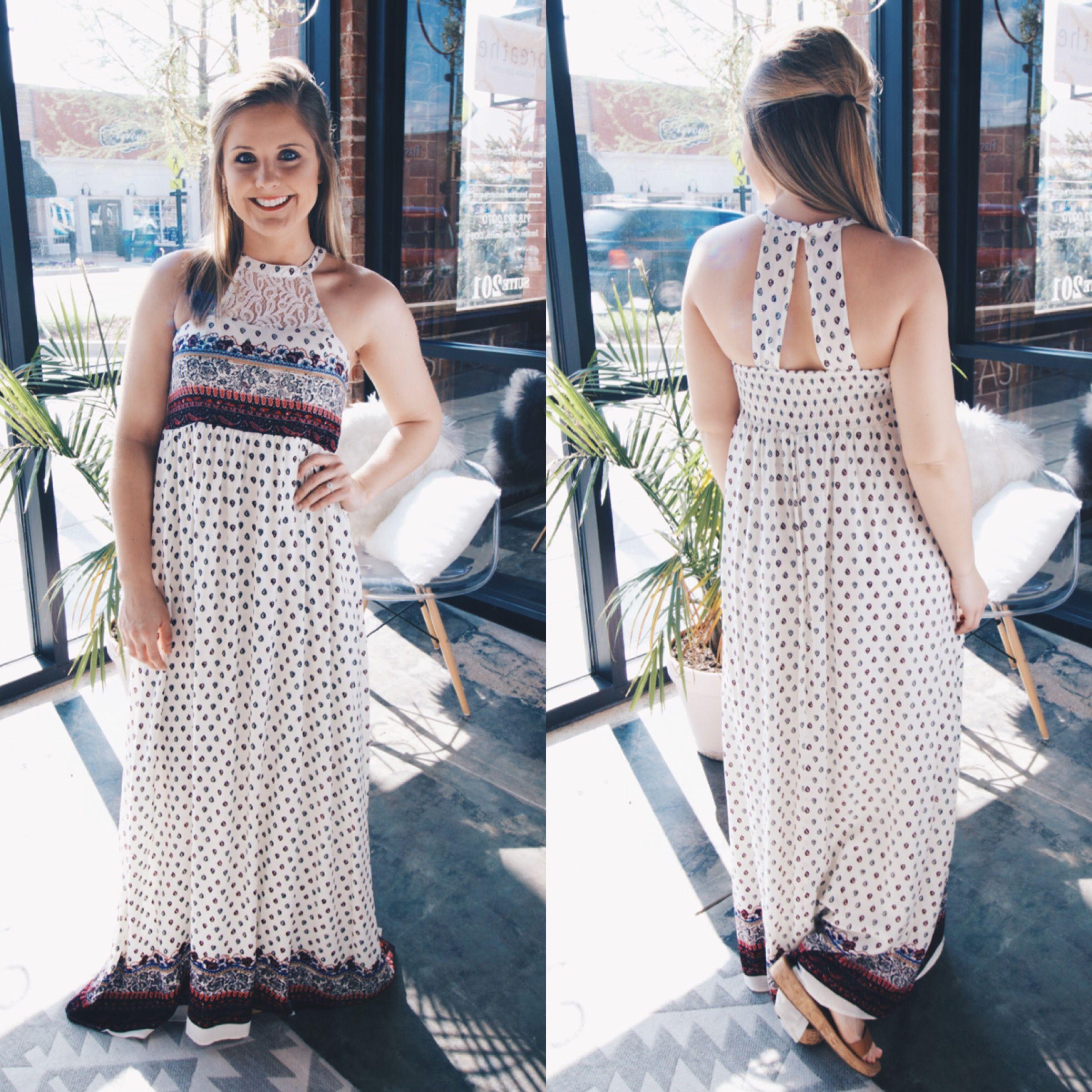 Boho maxi dress with fun patterns and fit boho maxi