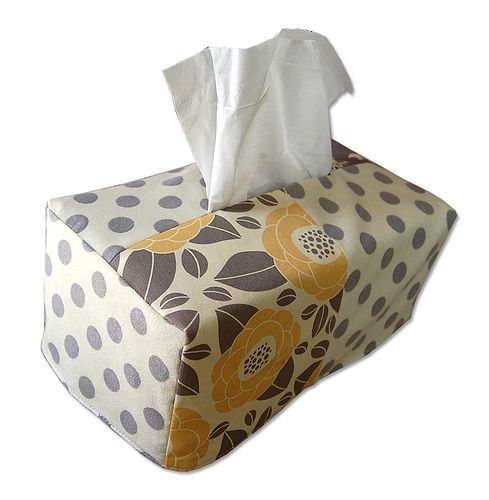 Check out this adorable kleenex box cover - and it can be made reversible! Great…