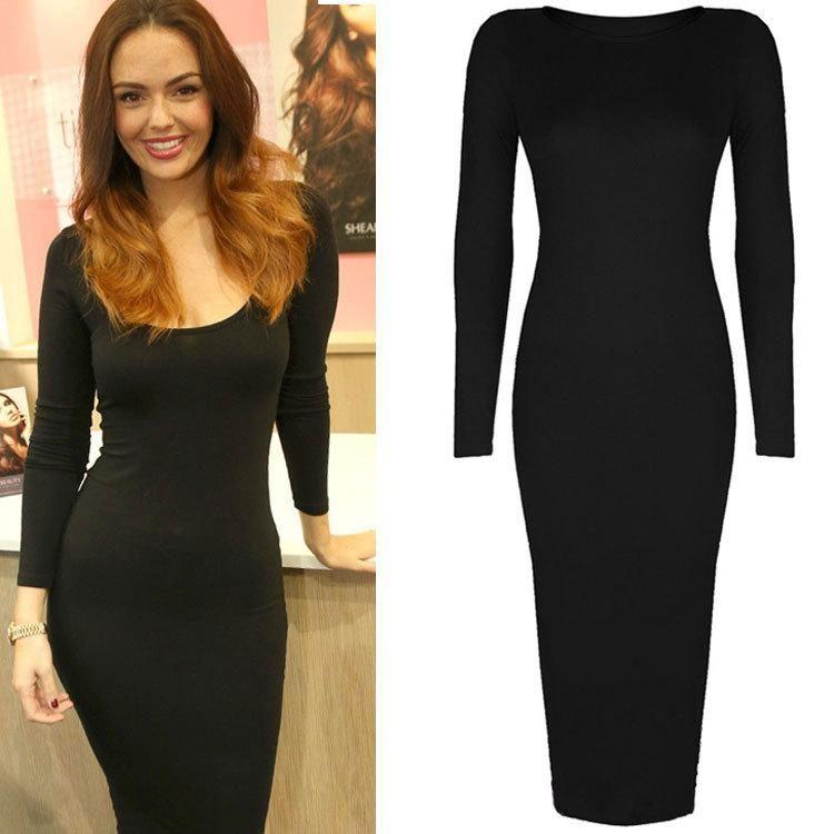 Long sleeve tight black dress | Long Sleeve Dresses | Pinterest ...