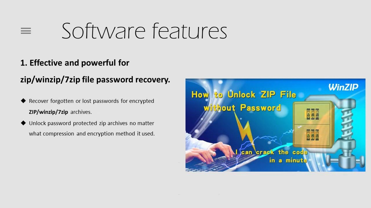 how to unlock a password protected 7zip file