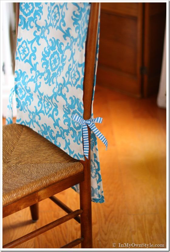 Simply Add Ribbon Ties To Each Side Of The Runner So That I Could Alluring Fabric Chair Covers For Dining Room Chairs Design Ideas