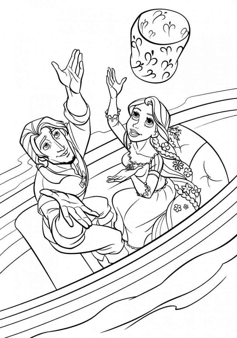 Rapunzel And Flynn Tangled Coloring Pages Princess Coloring Pages Rapunzel Coloring Pages