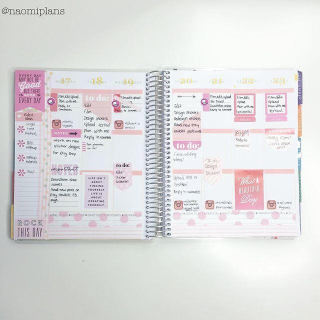 This weeks layout complete in my @erincondren vertical life planner! #ec #eclp #erincondren #eclifeplanner #erincondrenlifeplanner #lifeplanner
