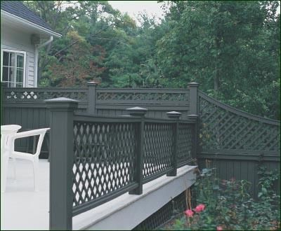 Lattice Railing Commercial And Residential Solid Cellular Pvc Wood And Vinyl Exterior Deck Patio Poolside Ba Patio Railing Railings Outdoor Lattice Patio