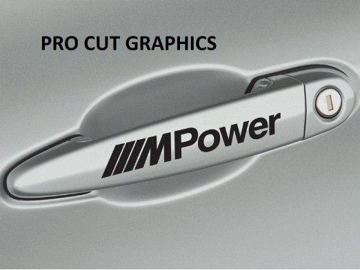 BMW M Power Door Handle Vinyl Decals Stickers M Logo sport tech ...