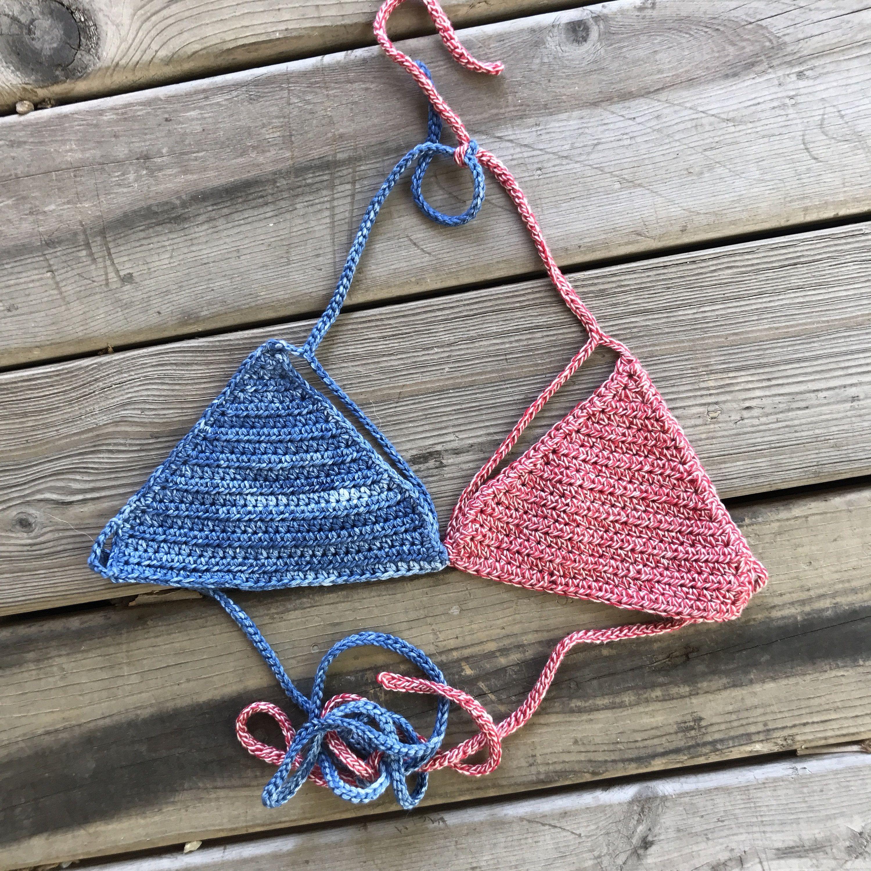 American Flag Bikini, USA Bikini, Crochet Bralette, Burning Man ...