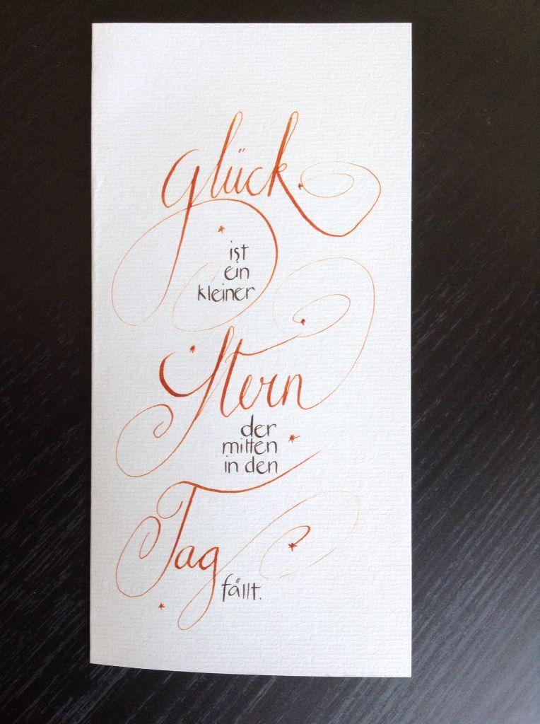 kalligraphiekarten sprueche pinterest kalligraphie. Black Bedroom Furniture Sets. Home Design Ideas