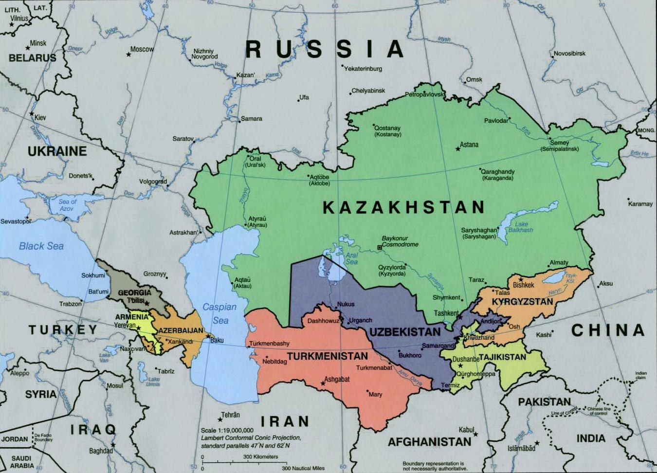 Image result for Tajikistan, map, neighboring nations
