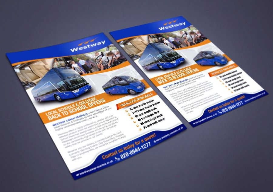 Promotional Flyer For London Based Coach Operator By Sercor