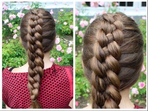 Dutch 4-strand braid tutorial - HairAndNailsInspiration | Hair ...