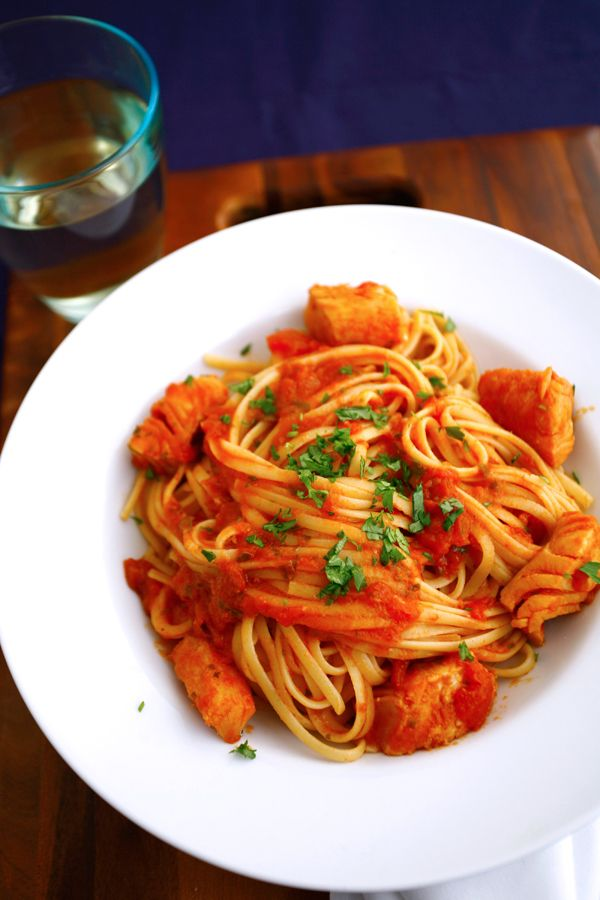 Baccalà Tomato Sauce with Linguine | Linguine, Tomato sauce and Sauces