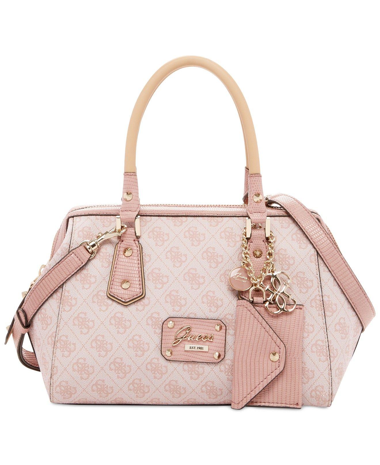 GUESS Park Lane Logo Frame Satchel All Handbags Handbags