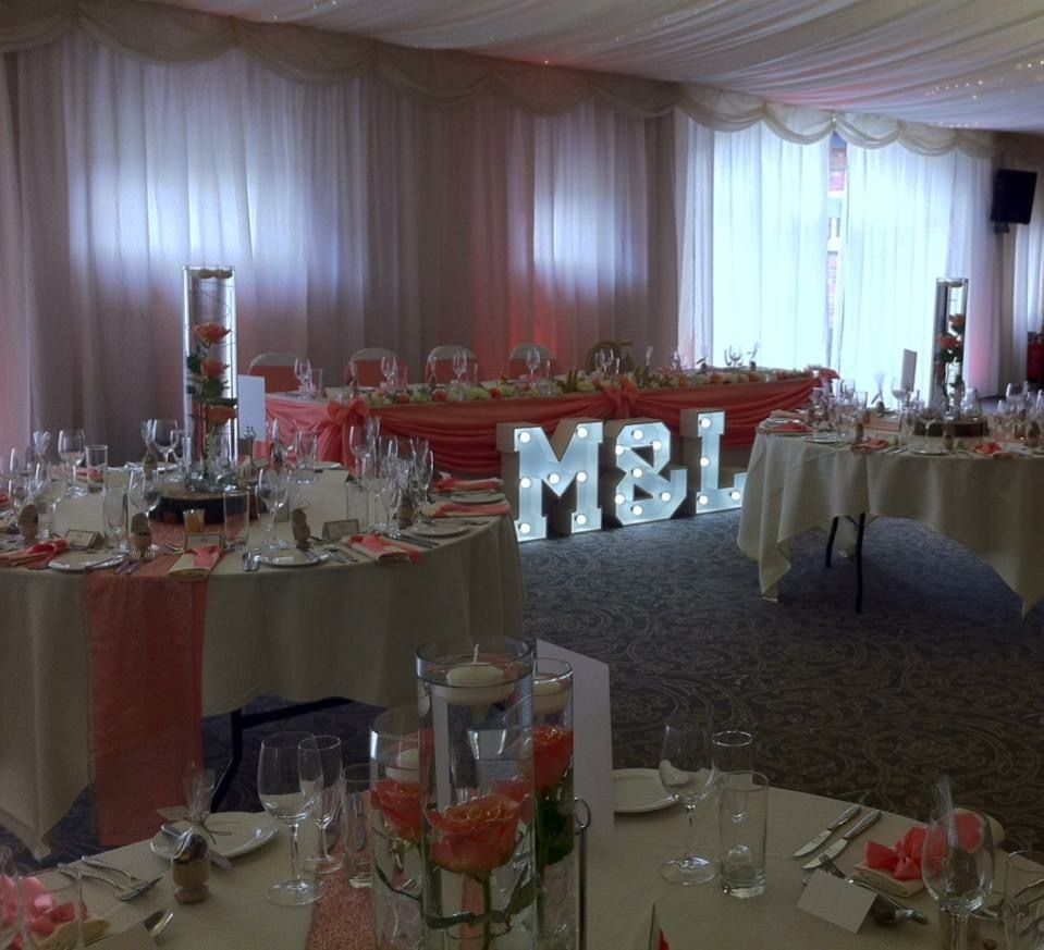Illuminated light up letters available to hire for weddings wedding decorationsletter lights hirechair cover hirefull wedding and event decorationswedding and event stylists preston covering northwest england junglespirit Choice Image