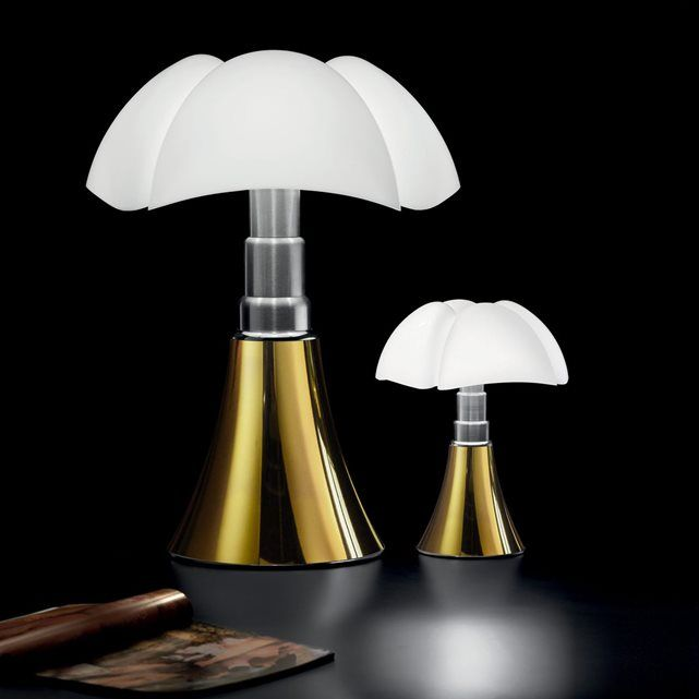 MINI Lampe PIPISTRELLO Doré LED Edition limitée H35cm