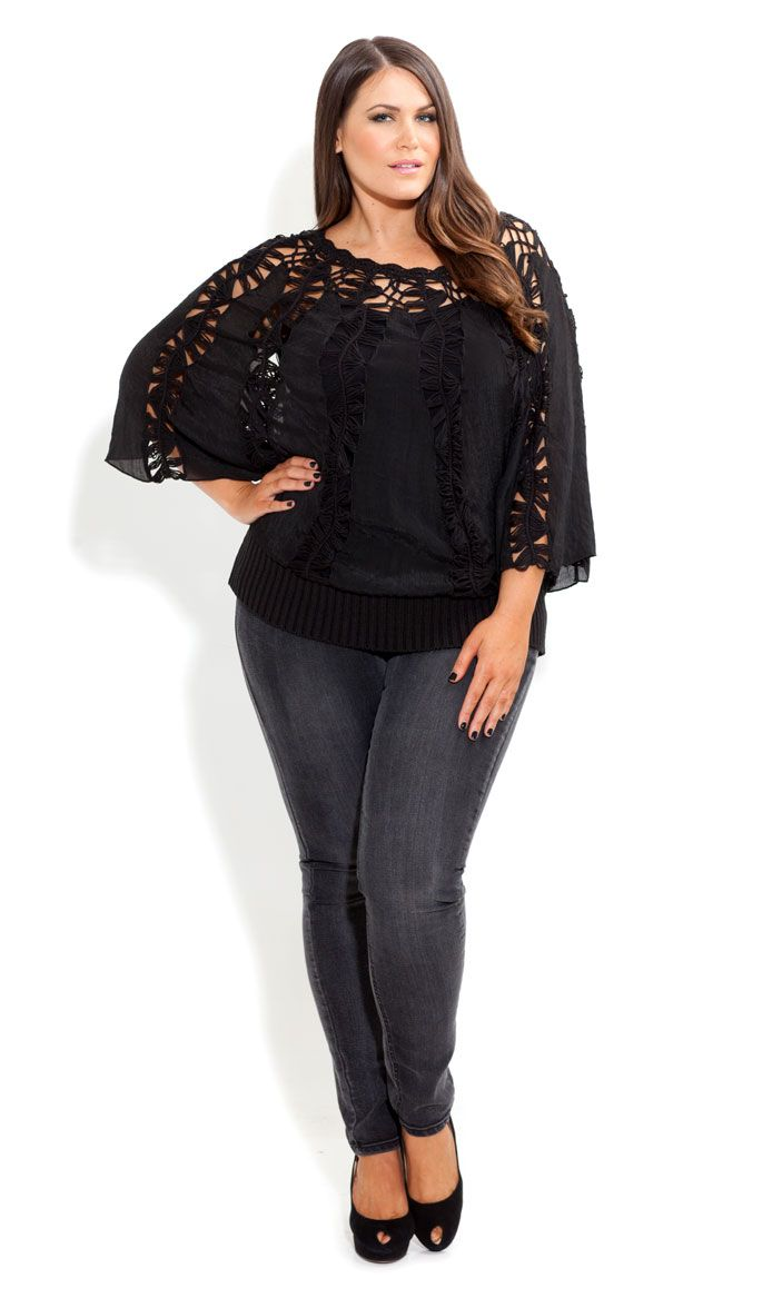 City Chic Crochet Craving Jumper Women S Plus Size Fashion Coquetas Gorditas