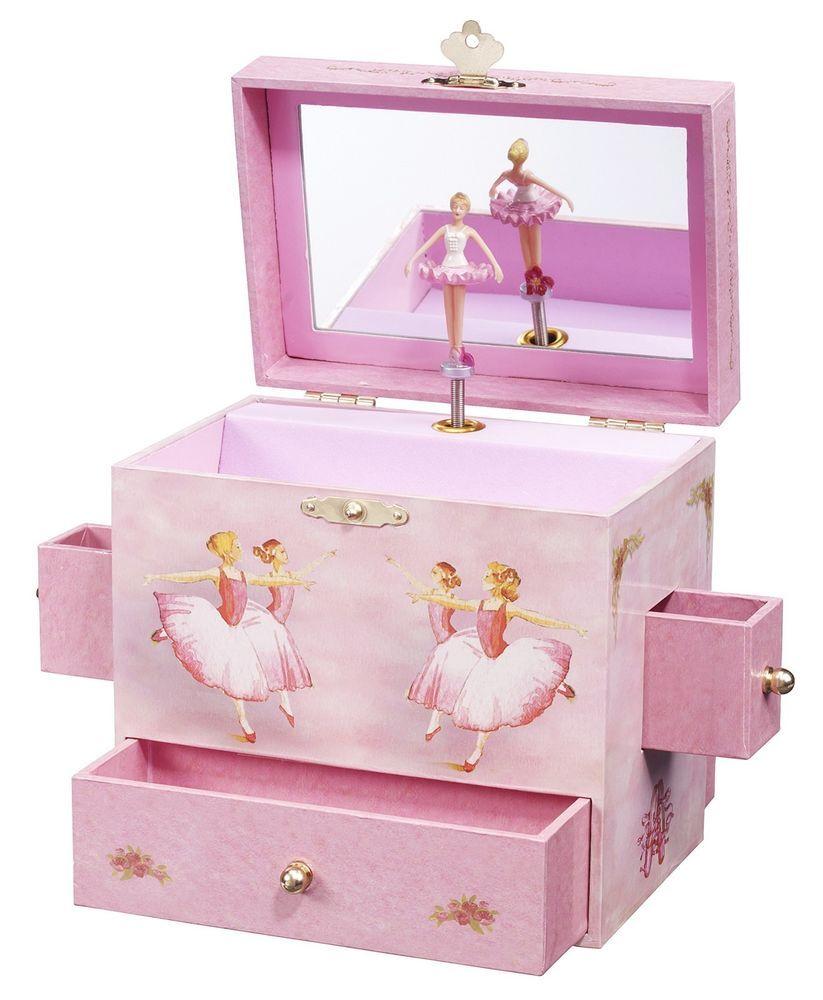 Ballerina Jewelry Music Box Swan Lake Enchantment Ballet