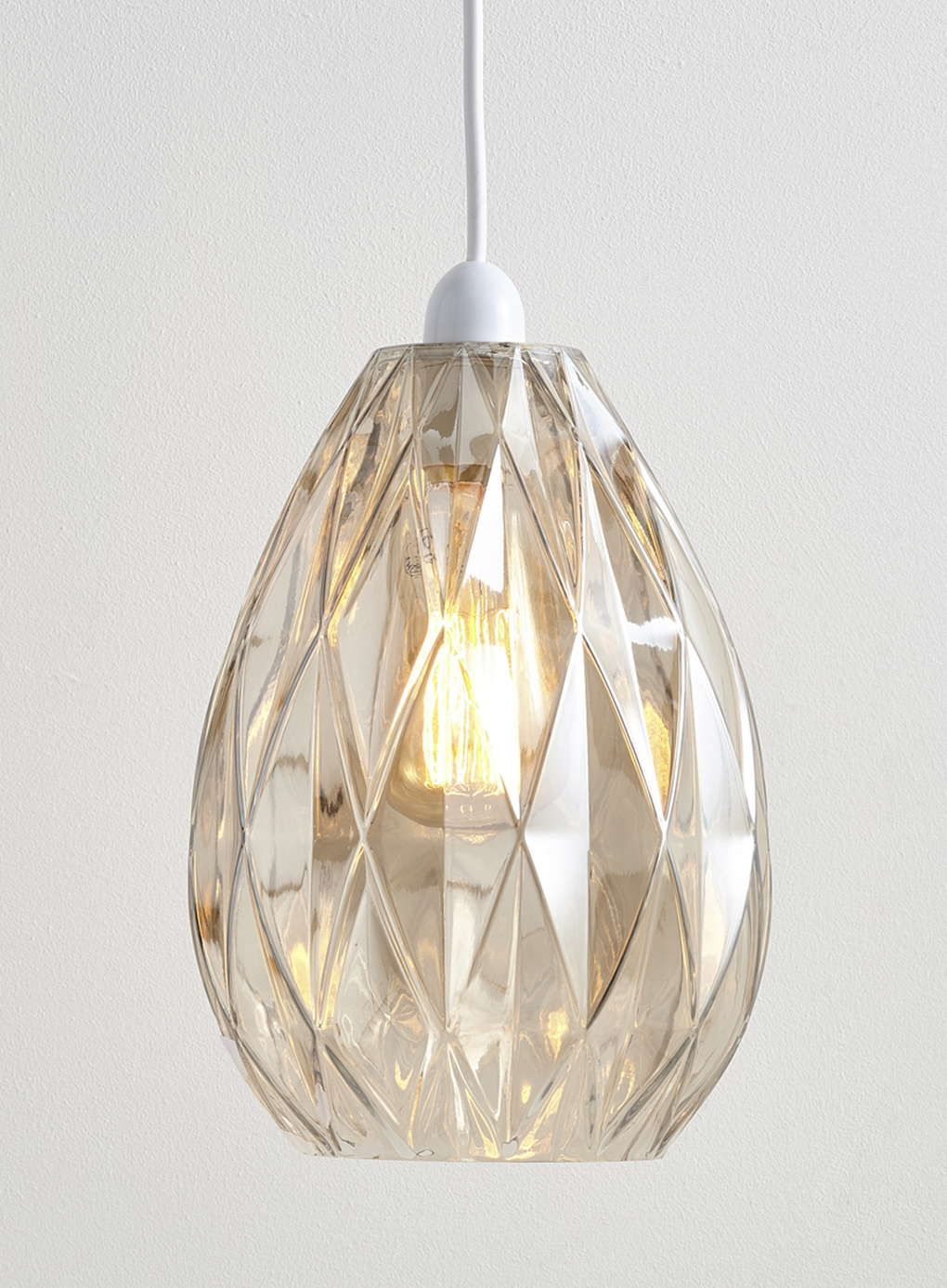 Champagne Nell Embossed Easy to Fit Ceiling Light - BHS | home ...