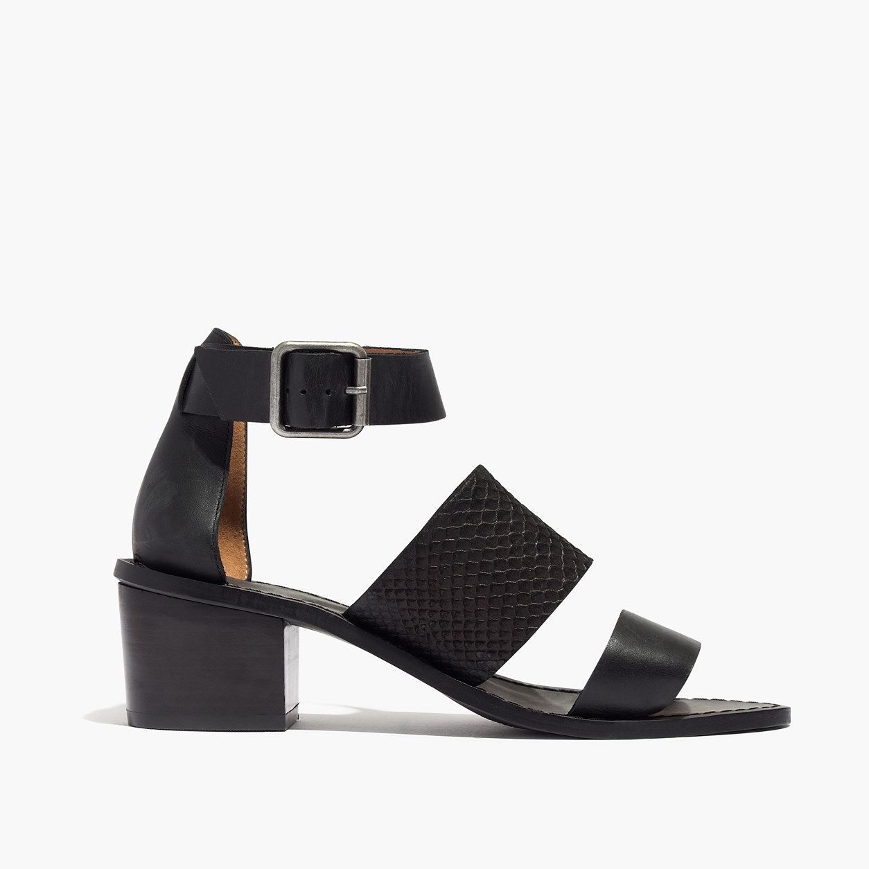 The Warren Sandal in Embossed Leather : Sandals | Madewell