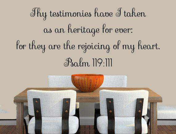 Bible Verse Print Wall Decal Psalms  Scripture Wall Decal - Custom vinyl wall decals sayings for living room