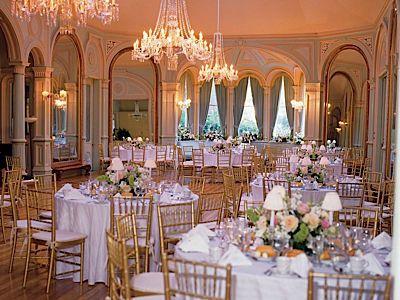 Ballroom wedding reception with a Modern Victorian decor Marys