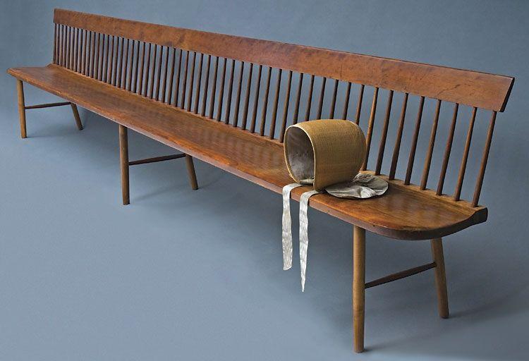 Shaker Stuhl shaker meeting bench 1850 furniture sessel und stuhl