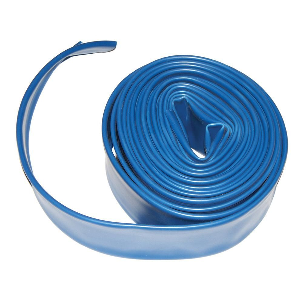 Plastiflex 2 In X 50 Ft Flat Backwash Hose With Clamp Ad2x50 The Home Depot Pool Vacuum Hose Pool Cleaning Tools Hose
